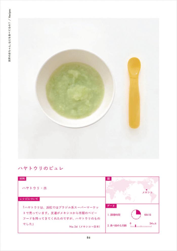 「世界の赤ちゃん、なにを食べてるの?/Recipes」より